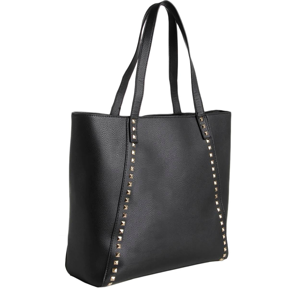 e0c2c8f9ce4c Shop BCBG Paris Womens Tote Handbag Faux Leather Studded - Large - Free  Shipping On Orders Over  45 - Overstock - 17008520
