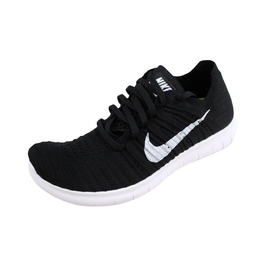 Shop Nike Men s Free Run Flyknit Black White 831069-001 - On Sale ... e23ca7f5eaaa