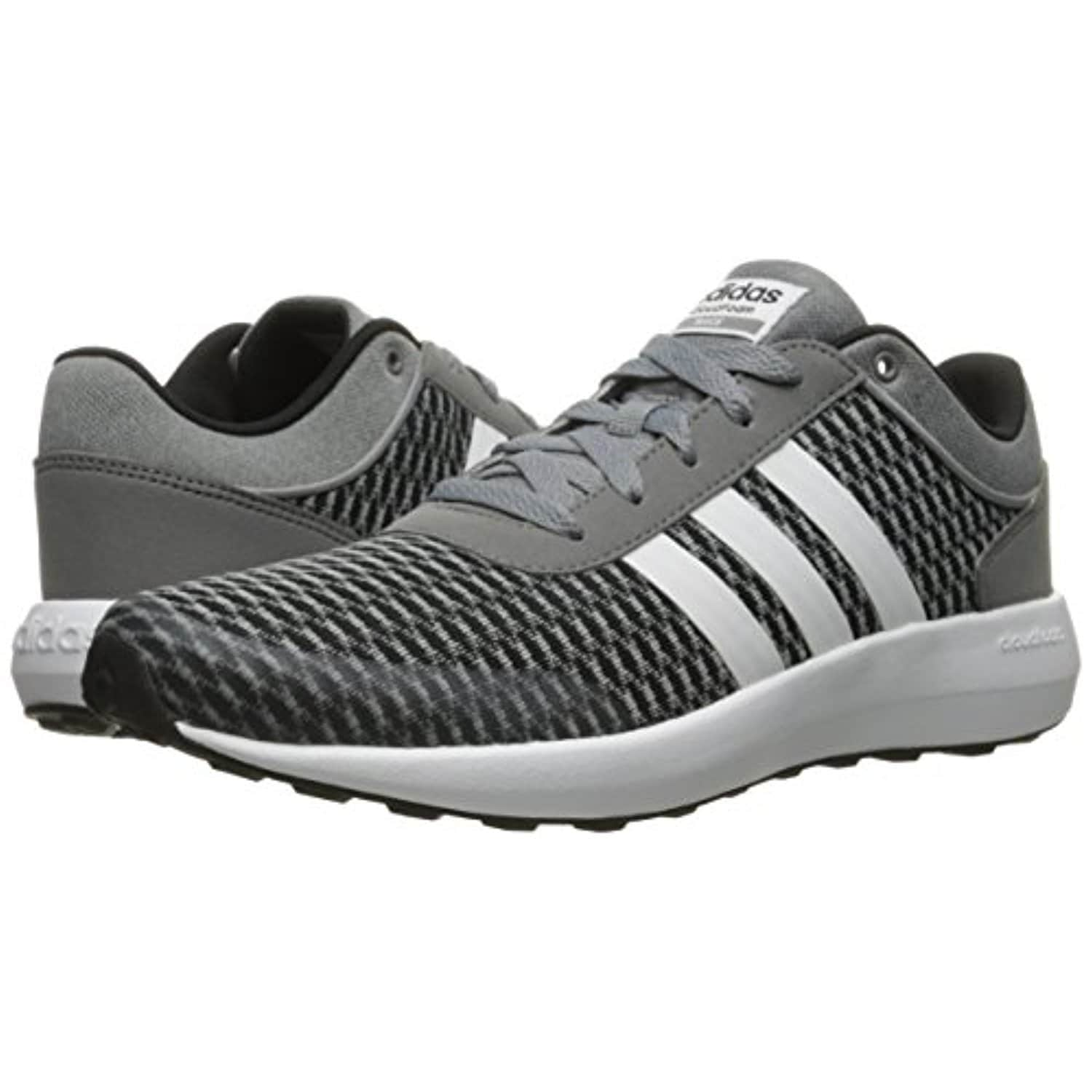 competitive price c5661 ca224 adidas NEO Men s Cloudfoam Race Running Shoe, Black White Tech Grey, 12 M  US - black white tech grey