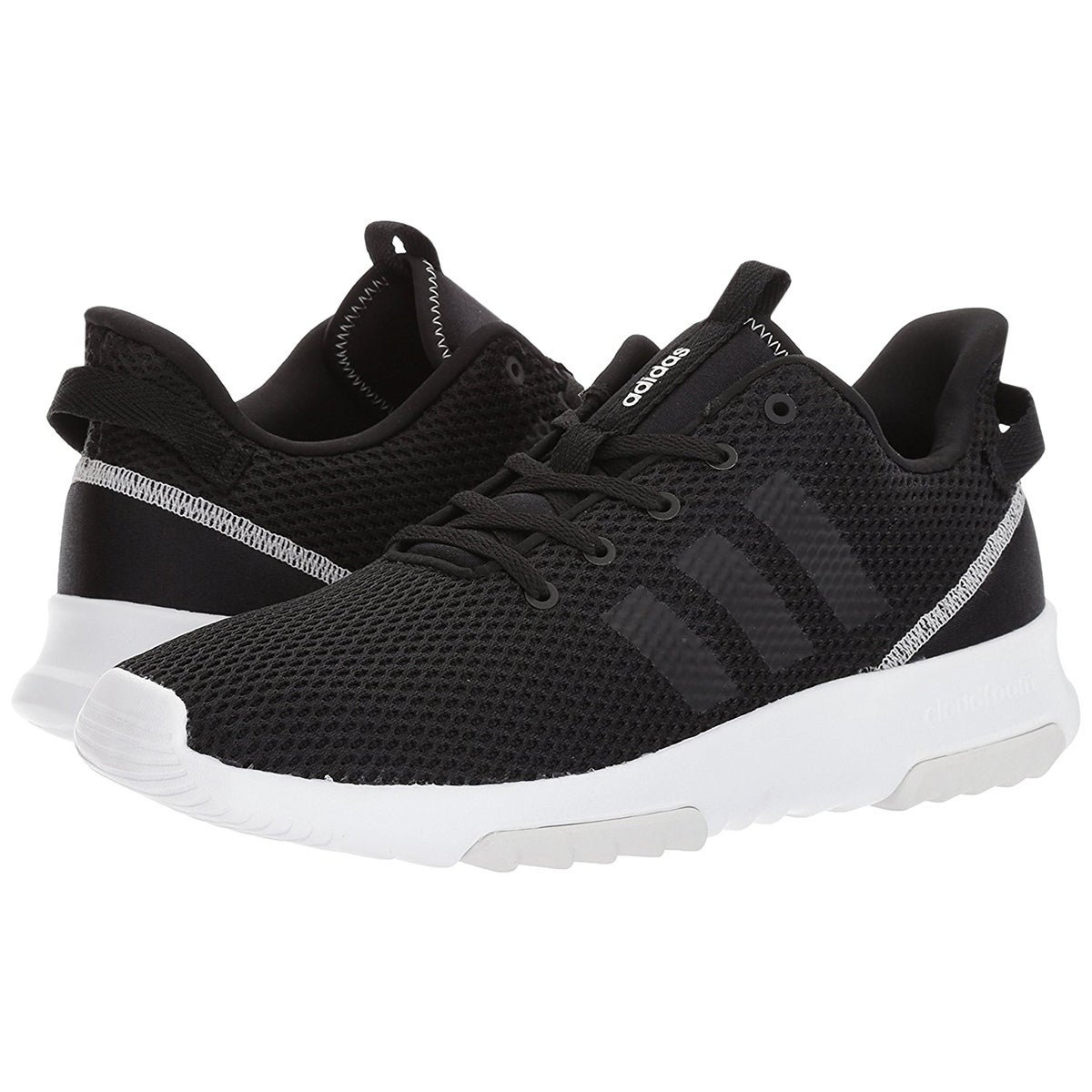 brand new 71c11 9744f Shop Adidas Womens Neo CloudFoam Racer Trail Running Shoes - BlackWhite -  Free Shipping Today - Overstock - 19813166
