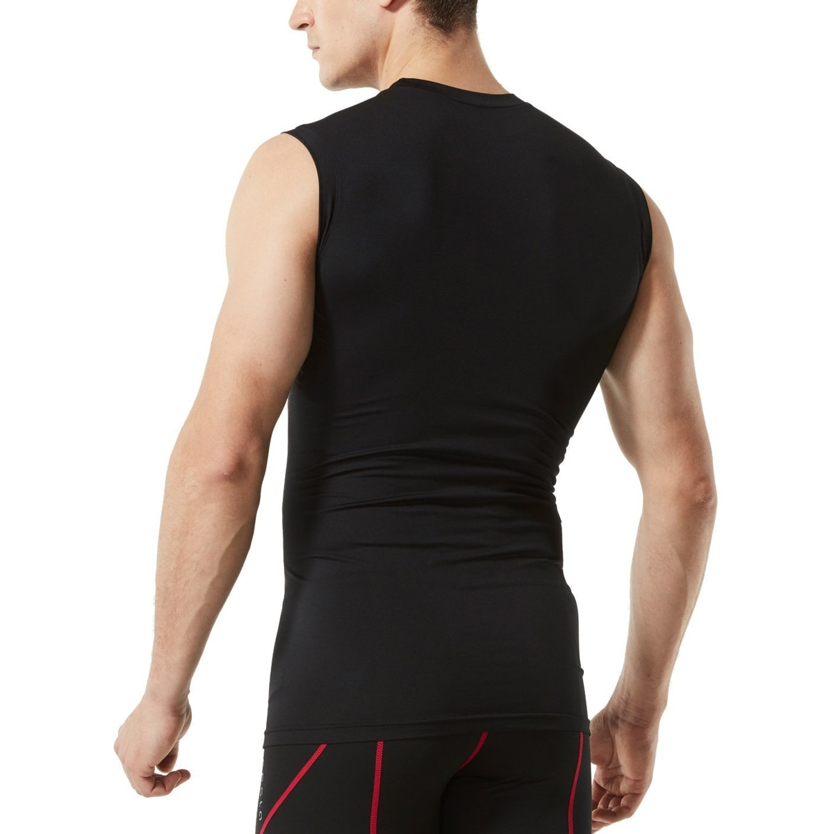 38f5308113 Shop TSLA Tesla MUA05 Baselayer Sleeveless Compression Muscle Tank Top -  Black/Red - Free Shipping On Orders Over $45 - Overstock - 18910264