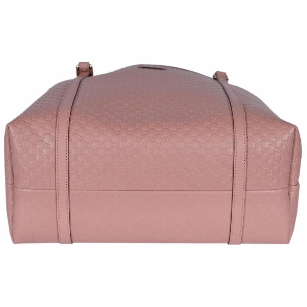 50d7e11f226 Shop Gucci 449647 Soft Pink Leather Micro GG Guccissima Joy Purse Handbag  Tote - 16