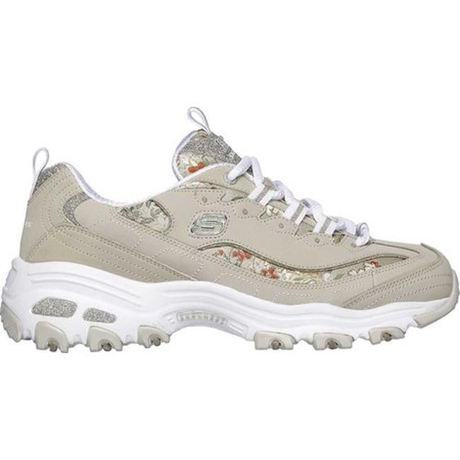 199c7f171a021 Shop Skechers Women s D Lites Floral Days Sneaker Taupe - Free Shipping  Today - Overstock - 25594953