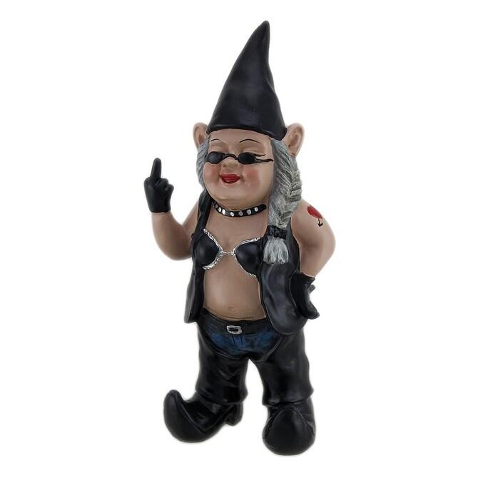 Shop Gnoschitt U0026 Gnofun The Naughty Biker Gnomes Statue Motorcycle Leather  13 Inch   Free Shipping Today   Overstock.com   16752631