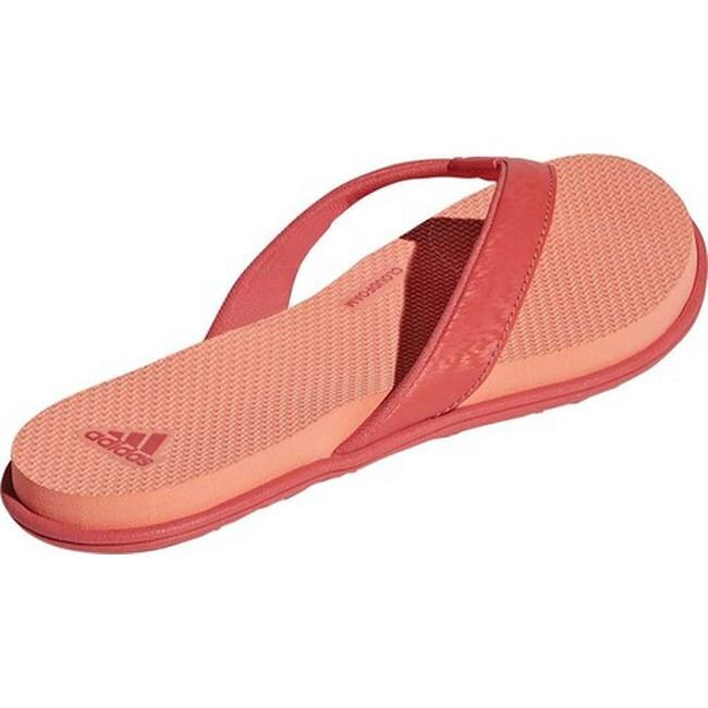 b93c9461cfb7 Shop adidas Women s Cloudfoam One Y Thong Sandal Trace Scarlet Trace  Scarlet Chalk Coral - Ships To Canada - Overstock.ca - 19738938