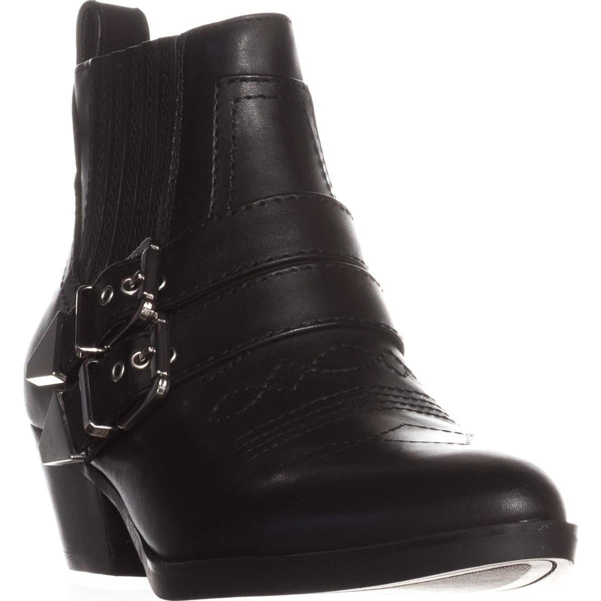 d6a6ad01de6 GUESS Womens Violla Pointed Toe Ankle Cowboy Boots