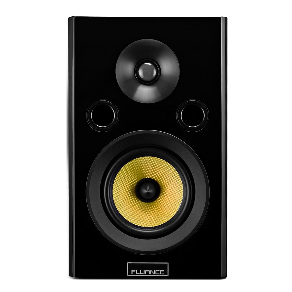 Shop Fluance Signature Series HiFi Two Way Bookshelf Surround Sound Speakers For Home Theater And Music Systems HFS