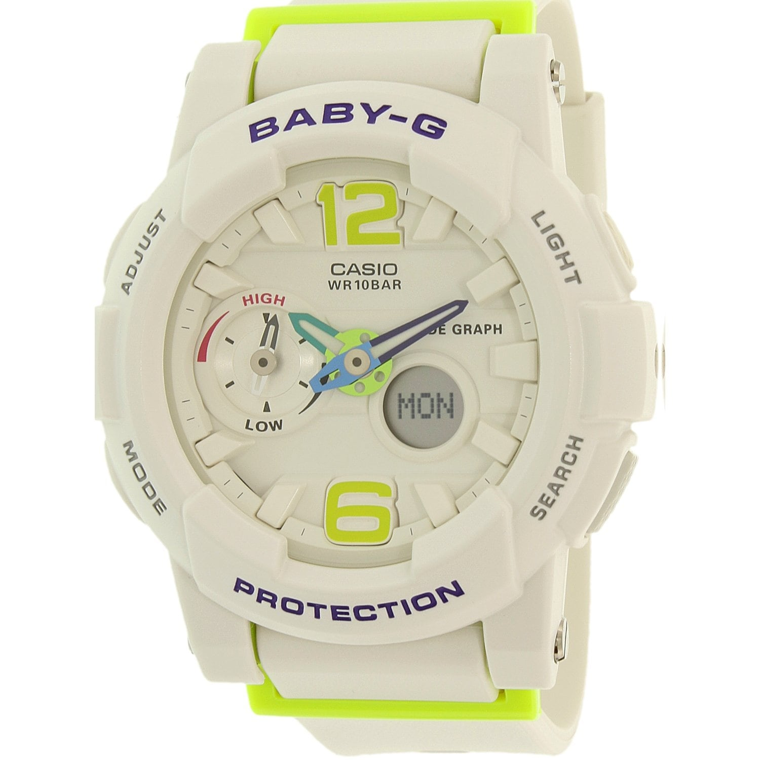 8dadd538ab971 Shop Casio Women s Baby-G White Rubber Quartz Sport Watch - Free ...