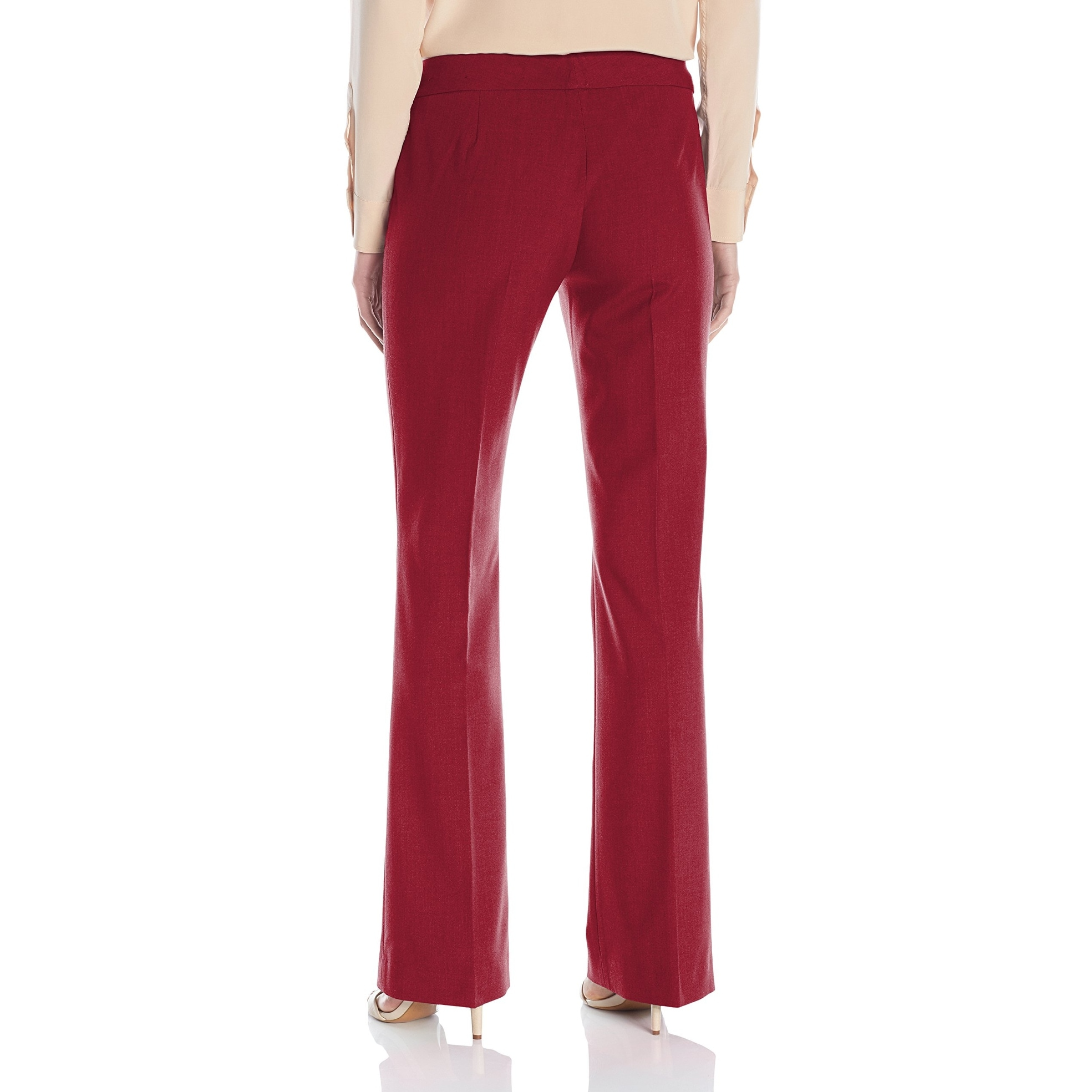 486b073f3847 Shop Nine West Dark Red Womens Size 16 Wide-Leg Dress Pants Stretch - On  Sale - Free Shipping On Orders Over $45 - Overstock - 27315351