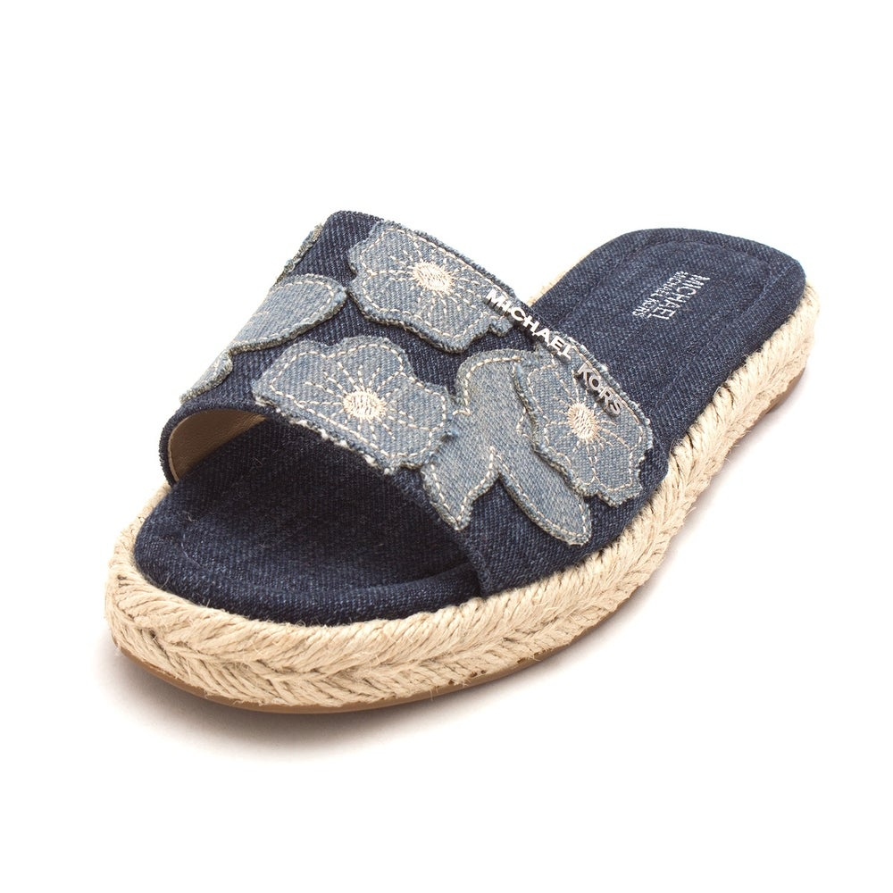 329b2be4fd1f Shop Michael Kors Womens Dempsey Slide Fabric Open Toe Casual Slide Sandals  - 6 - Free Shipping On Orders Over  45 - Overstock - 22055125