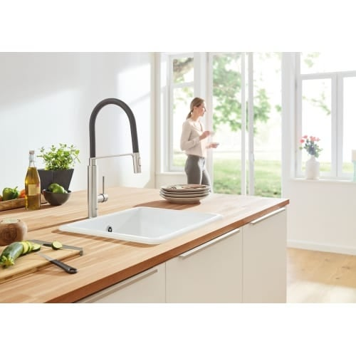 Grohe 31 492 Pre-Rinse Spray Kitchen Faucet with Locking Push Button ...