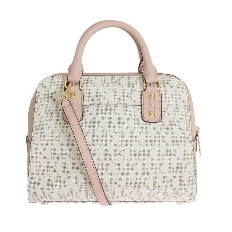 Michael Kors Pink Sandrine Leather Satchel Handbag One Size Free Shipping Today 21178091