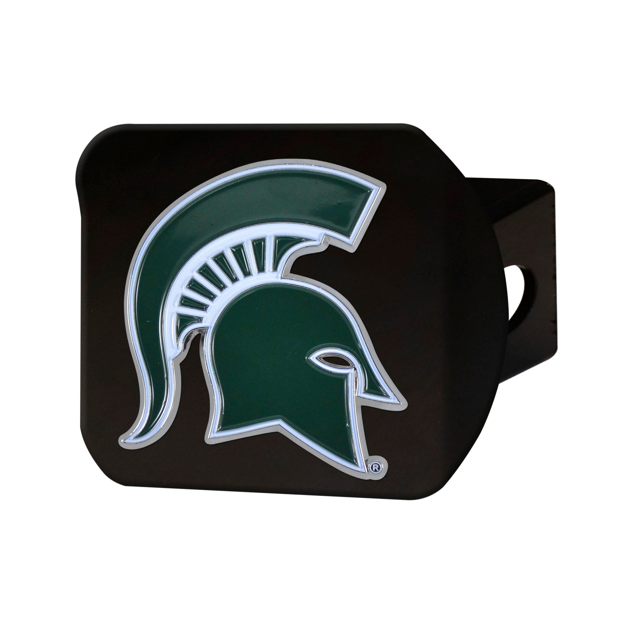e60e810513a8e Shop Michigan State University Black Hitch Cover with Color - Free Shipping  On Orders Over  45 - Overstock - 25618346