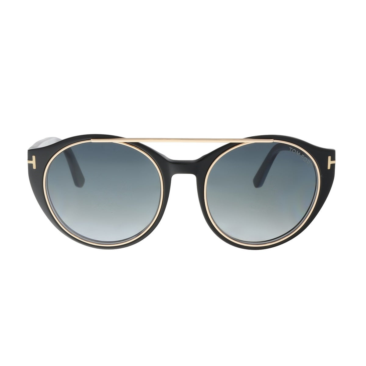 f0fb7556bcec Shop Tom Ford FT0383/S 01W Joan Black Aviator Sunglasses - 52-19-140 - Free  Shipping Today - Overstock - 19518838