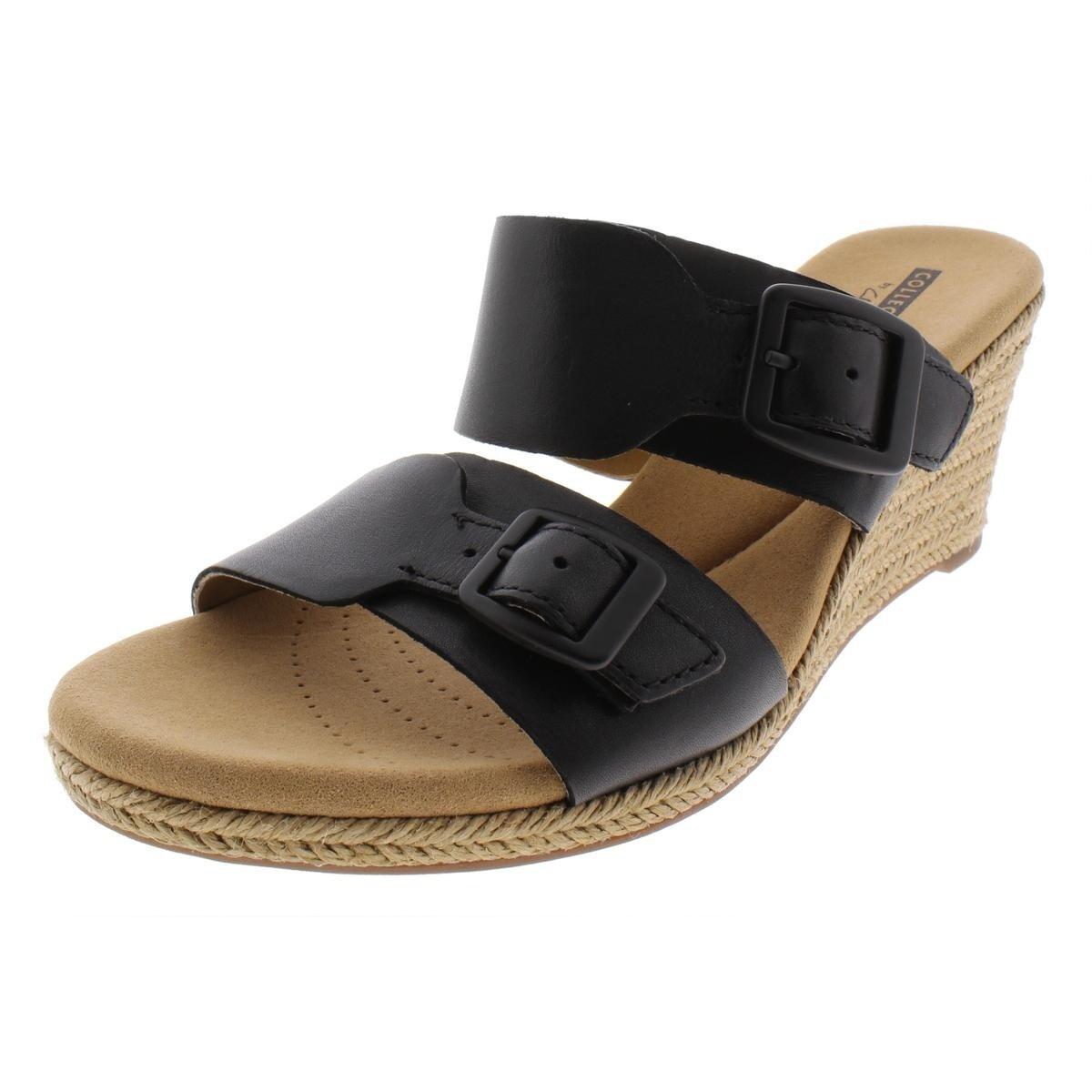 00b41ed6fbd Clarks Womens Lafley Devin Espadrilles Leather Sandals