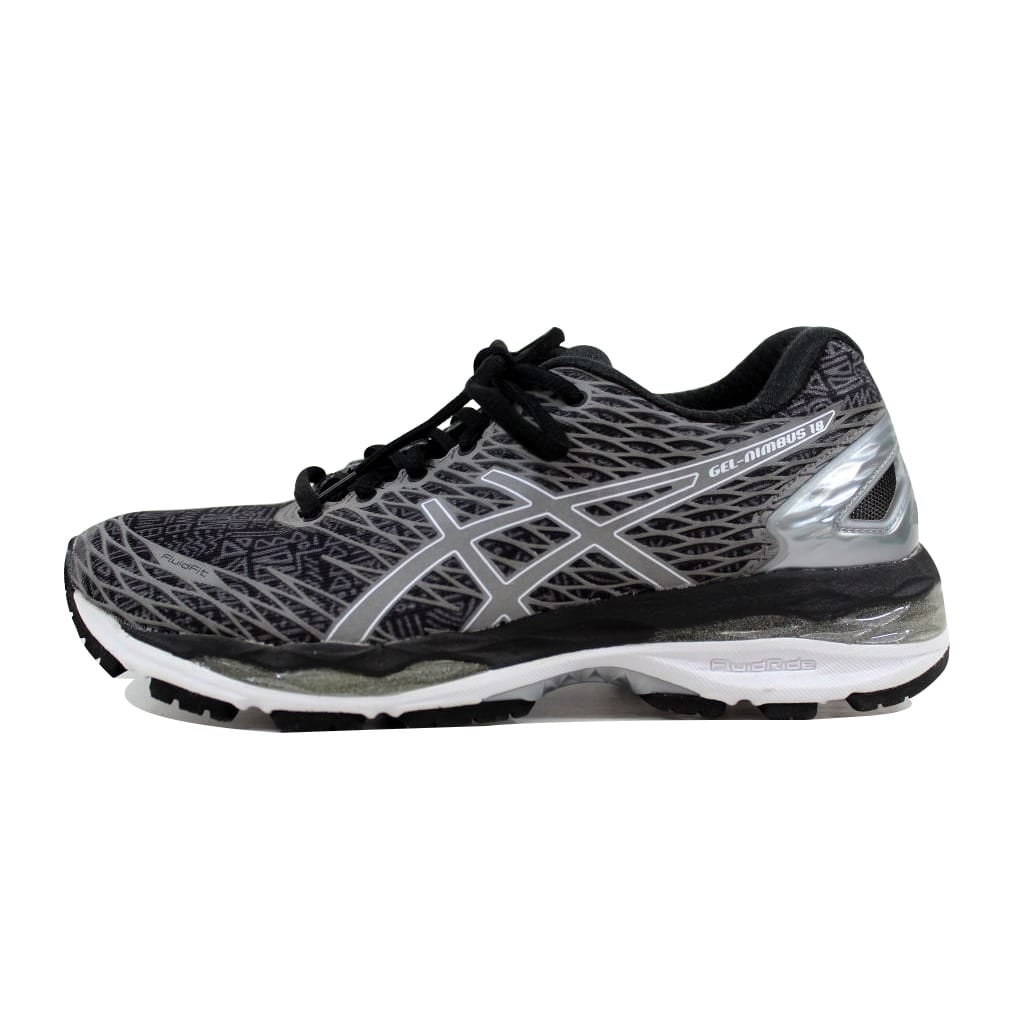 finest selection 37848 978cf Shop Asics Women's Gel Nimbus 18 Lite Show Black/Silver-Shark T6E5N 9093 -  Free Shipping Today - Overstock - 22340569