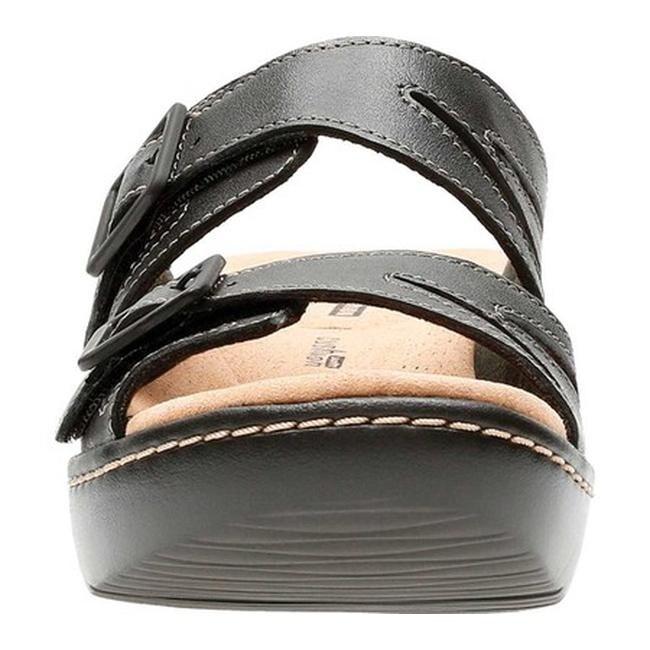 20aad6285d2 Shop Clarks Women s Delana Liri Slide Black Full Grain Leather - On Sale -  Ships To Canada - Overstock - 20702475