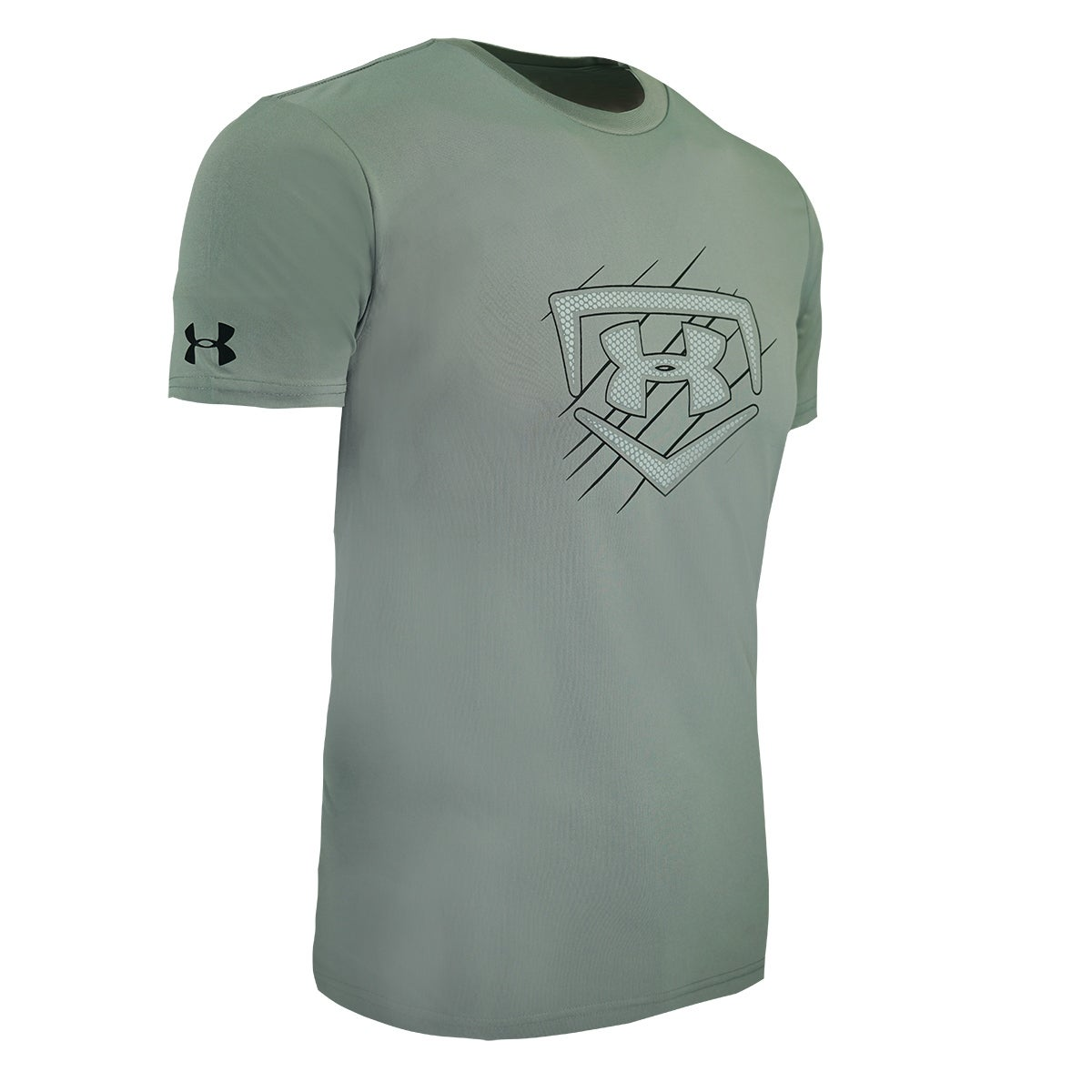 6874ee1c Shop Under Armour Men's Heatgear Graphic Big Logo T-Shirt -  Steel/Grey/Black - Free Shipping On Orders Over $45 - Overstock - 27902892