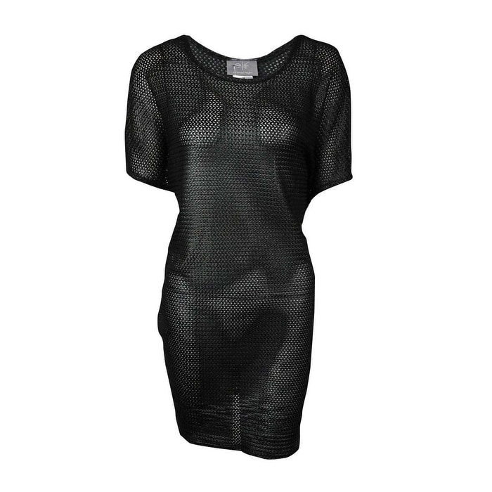 4c07dd0946d361 Shop Elif for Jordan Taylor Women s Textured Tunic Swimsuit Cover - Black -  On Sale - Free Shipping On Orders Over  45 - Overstock - 14817981