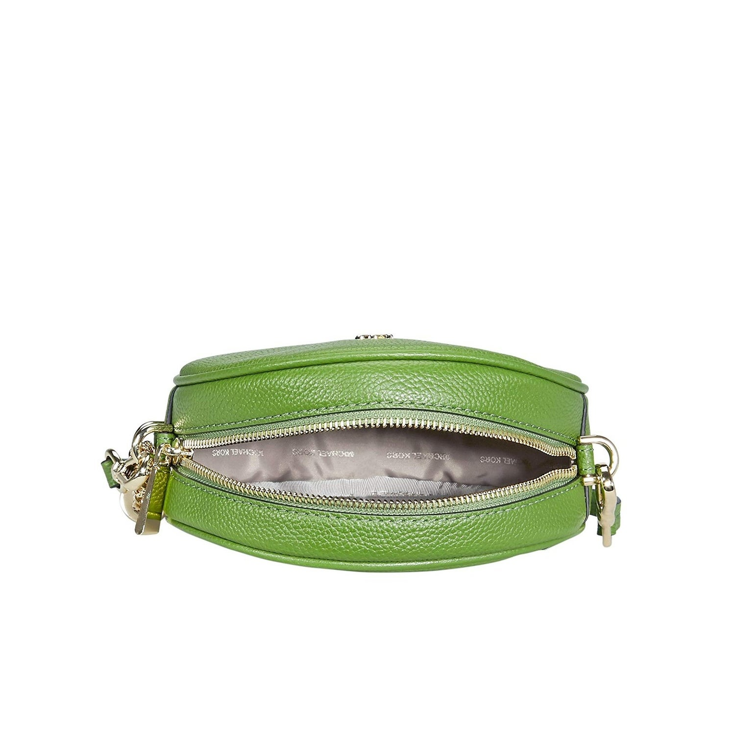 dd72ea3bbabf Shop MICHAEL Michael Kors Pebble Leather Medium Canteen Crossbody Bag True  Green Gold - One size - Free Shipping Today - Overstock - 25752401