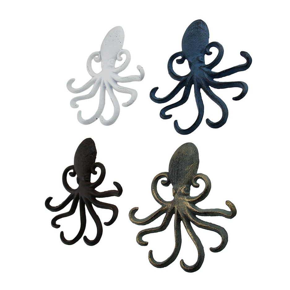 3 Prong Anchor Hooks - 4-Piece-Colorful-Octopus-Shaped-Cast-Iron-Wall-Hook-Set_Simple 3 Prong Anchor Hooks - 4-Piece-Colorful-Octopus-Shaped-Cast-Iron-Wall-Hook-Set  Image_107921.jpg