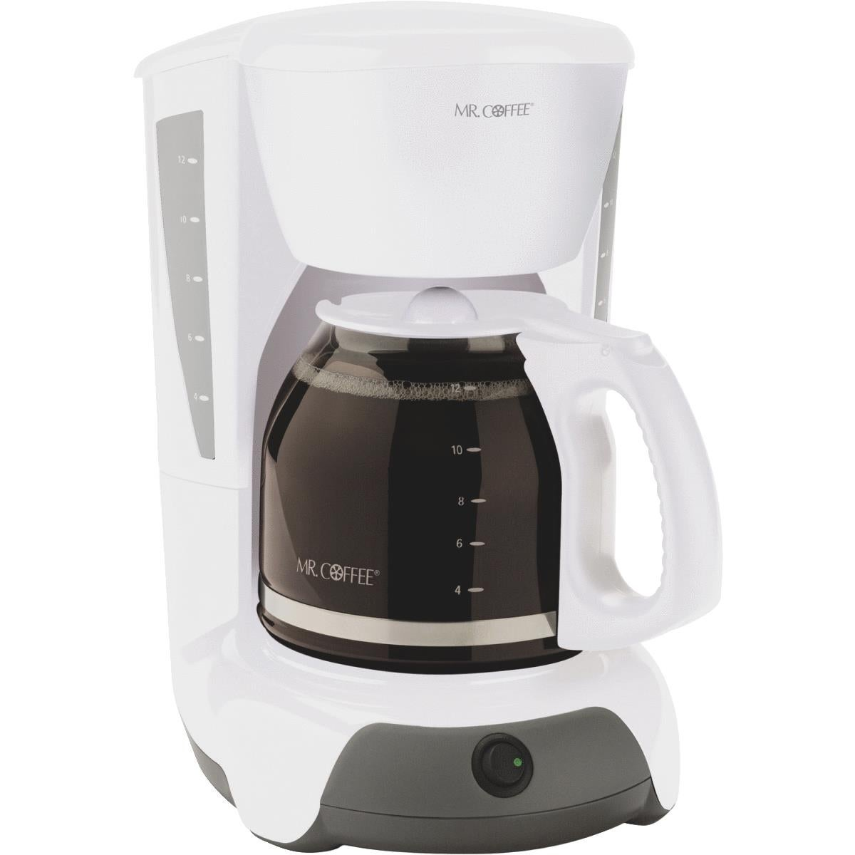 Shop Mr Coffee Wht 12 Cup Coffeemaker Free Shipping On Orders