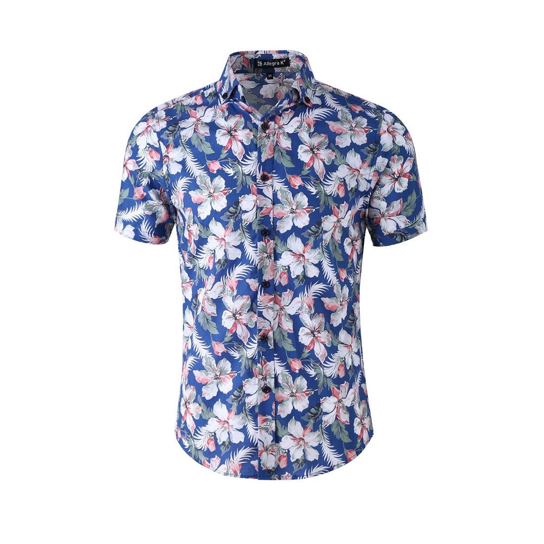 b8d6021a6 Shop Men Slim Fit Floral Print Short Sleeve Button Down Beach Hawaiian Shirt  - Free Shipping On Orders Over $45 - Overstock - 23563188