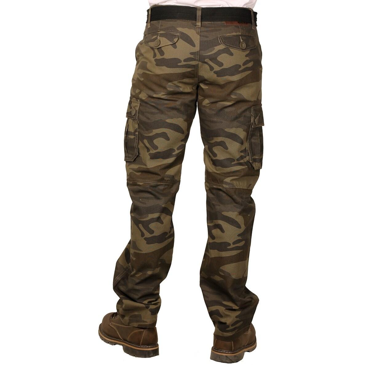 Shop Royal Blue Men S Premium Twill Camouflage Cargo Pants Free
