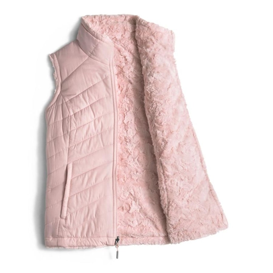 afc68147e The North Face Women's Mossbud Swirl Reversible Vest Purdy Pink - MEDIUM