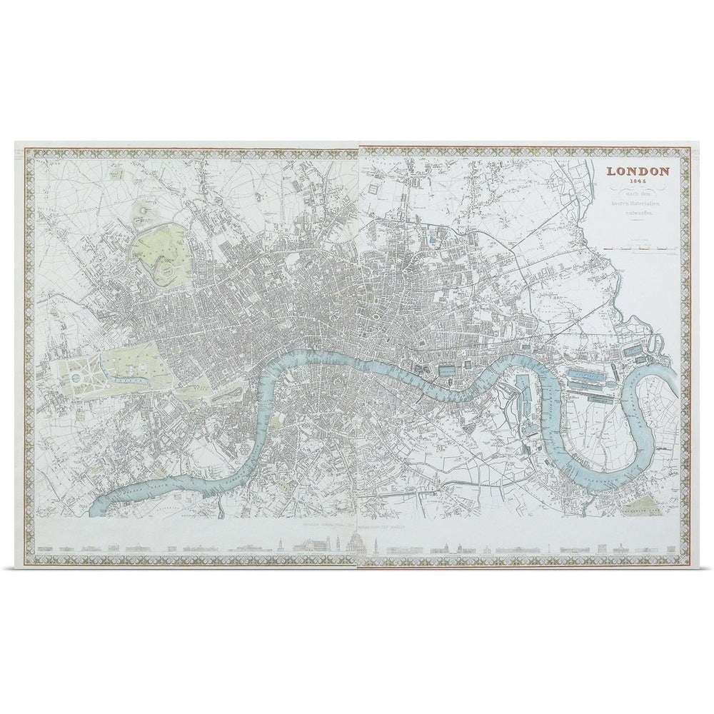 Map Of England Poster.Poster Print Entitled Map Of London England Multi Color