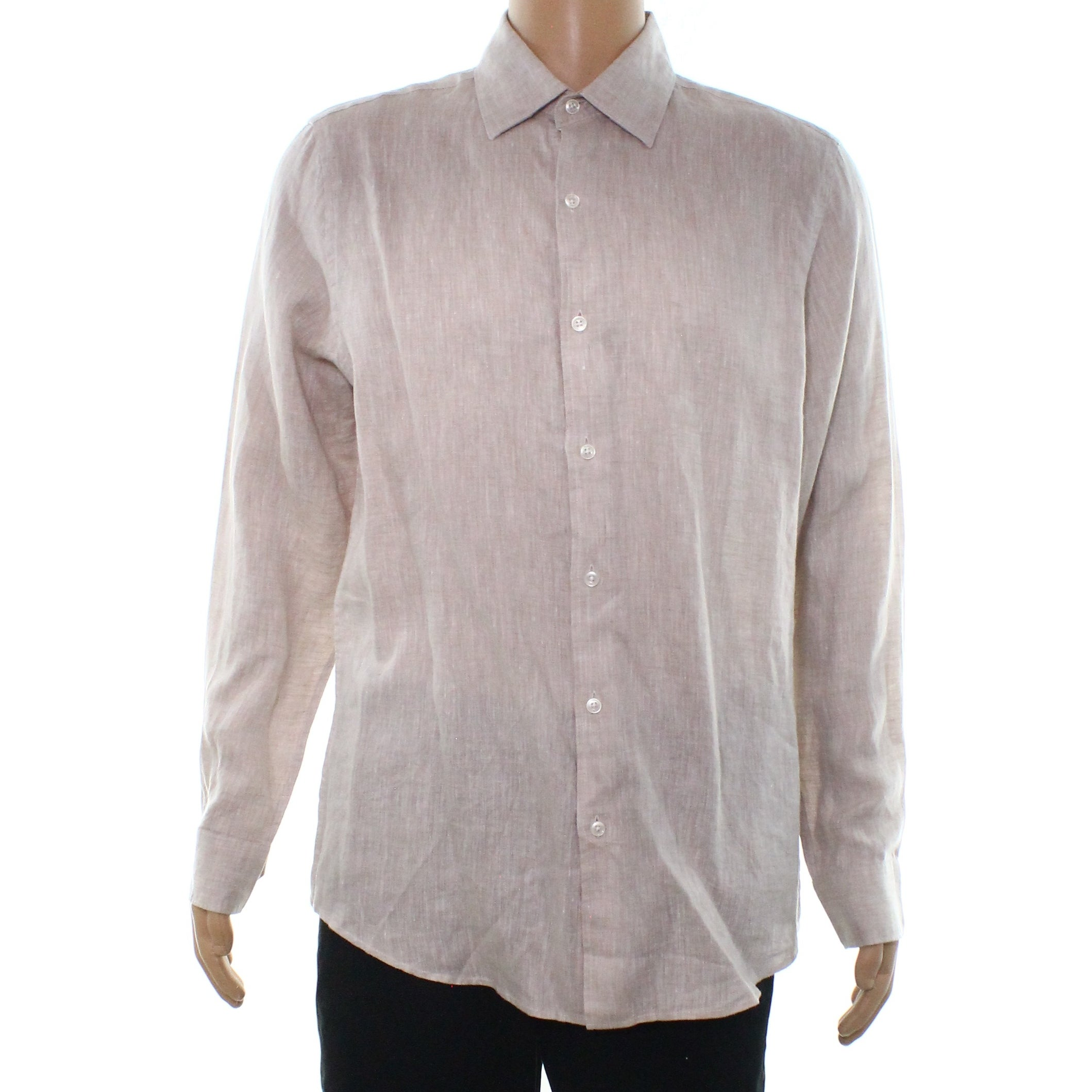 Shop Tasso Elba Mens 19-19 1 2 Linen Button Down Shirt - On Sale - Free  Shipping On Orders Over  45 - - 26898320 b966f00d10311