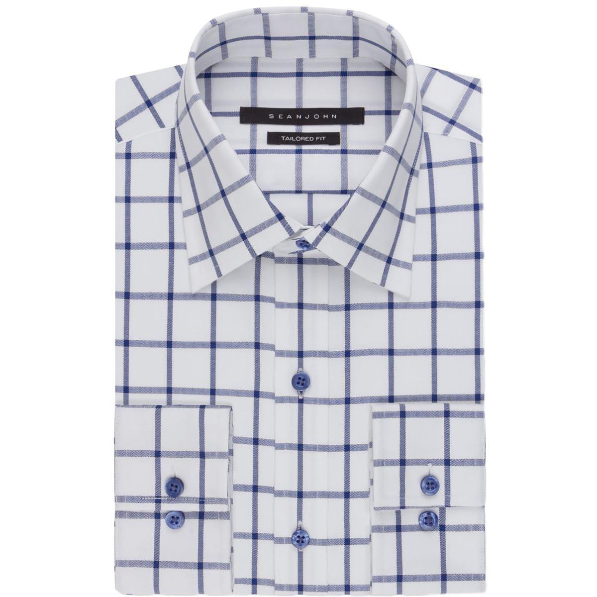 Shop Sean John Mens Big Tall Button Down Shirt Open Checkered Tab