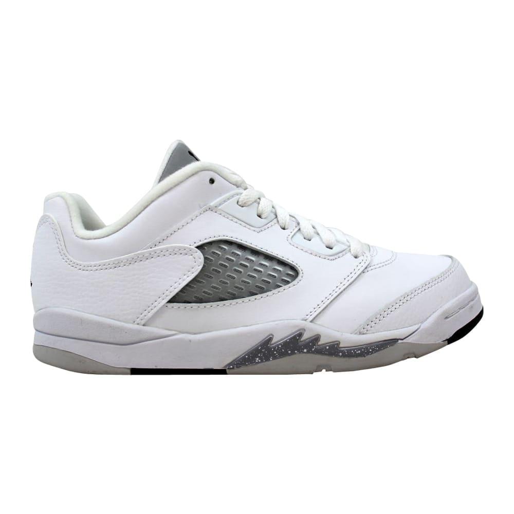 5a5ab669e1bb Nike Air Jordan V 5 Retro Low GP White Black-Wolf Grey Pre-School  819173-122 Size 3 Medium