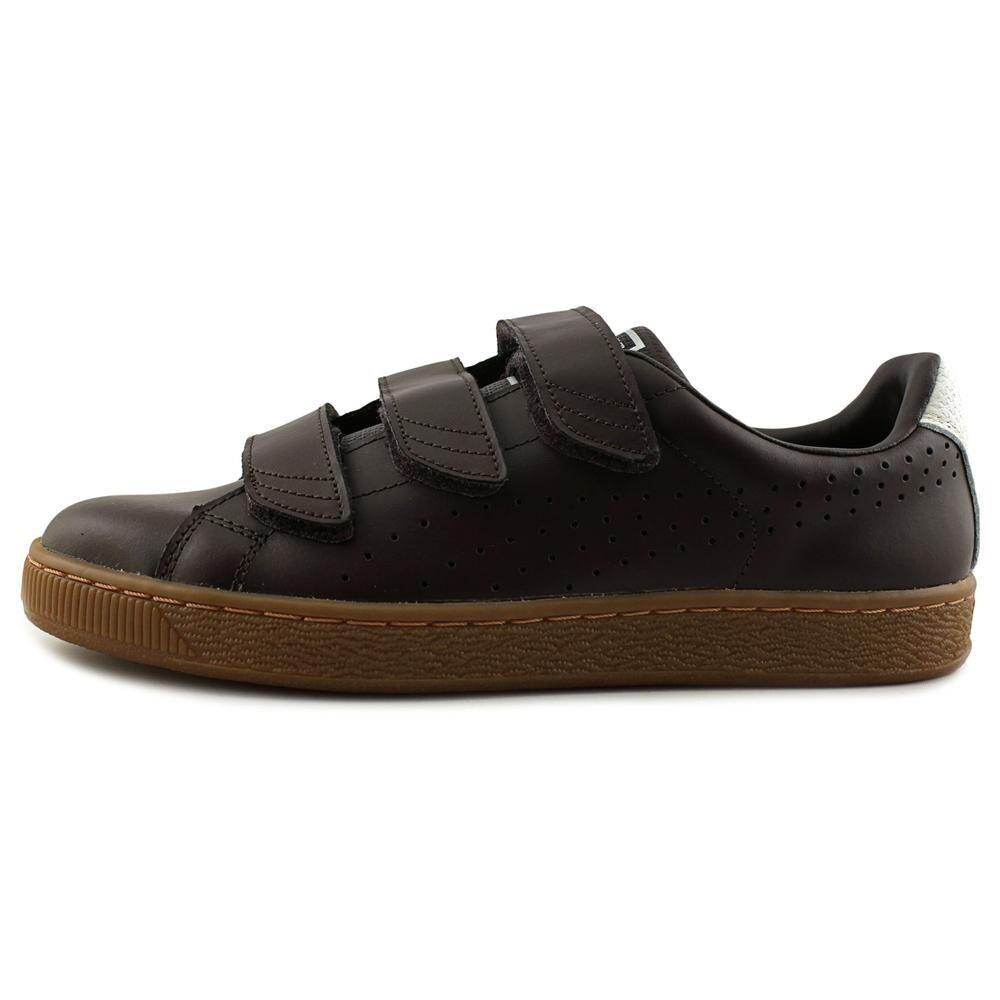 676989582b5b Puma Basket Classic Strap CITI Men Black Coffee-Whisper White Sneakers Shoes