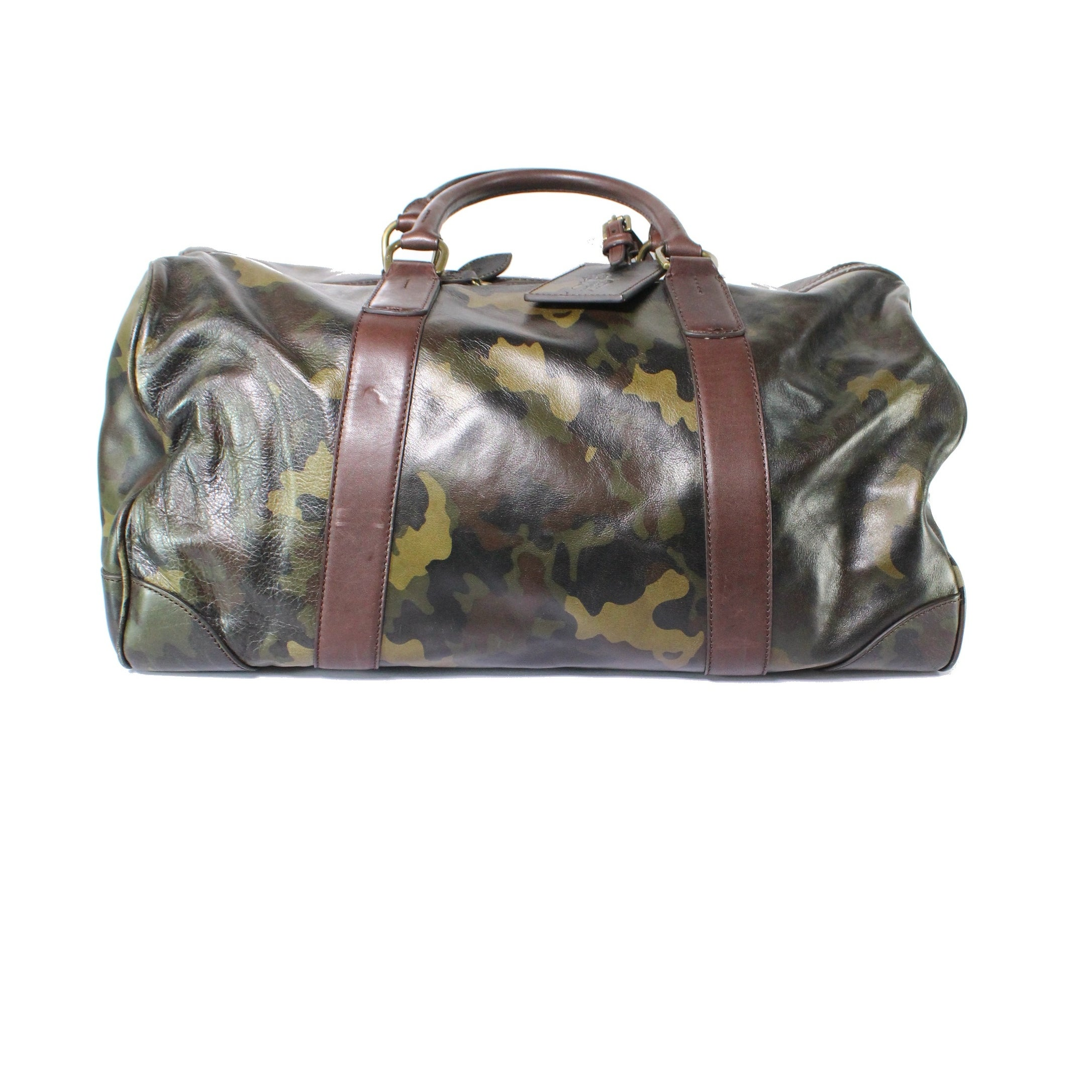 c91f4615d Shop Polo Ralph Lauren NEW Green One Size Camoflauge Leather Duffle Bag -  Free Shipping Today - Overstock - 19788573