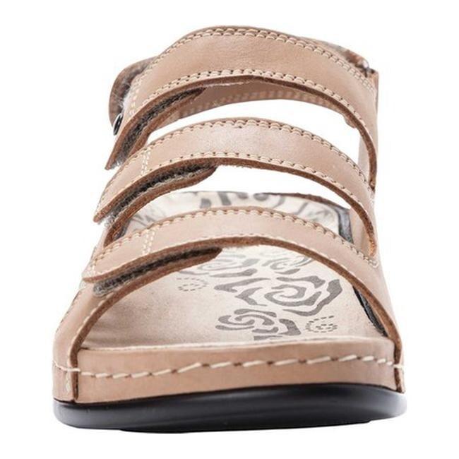 e8c0c65cf46 Propet Women's Kara Walking Sandal Bisque Full Grain Leather