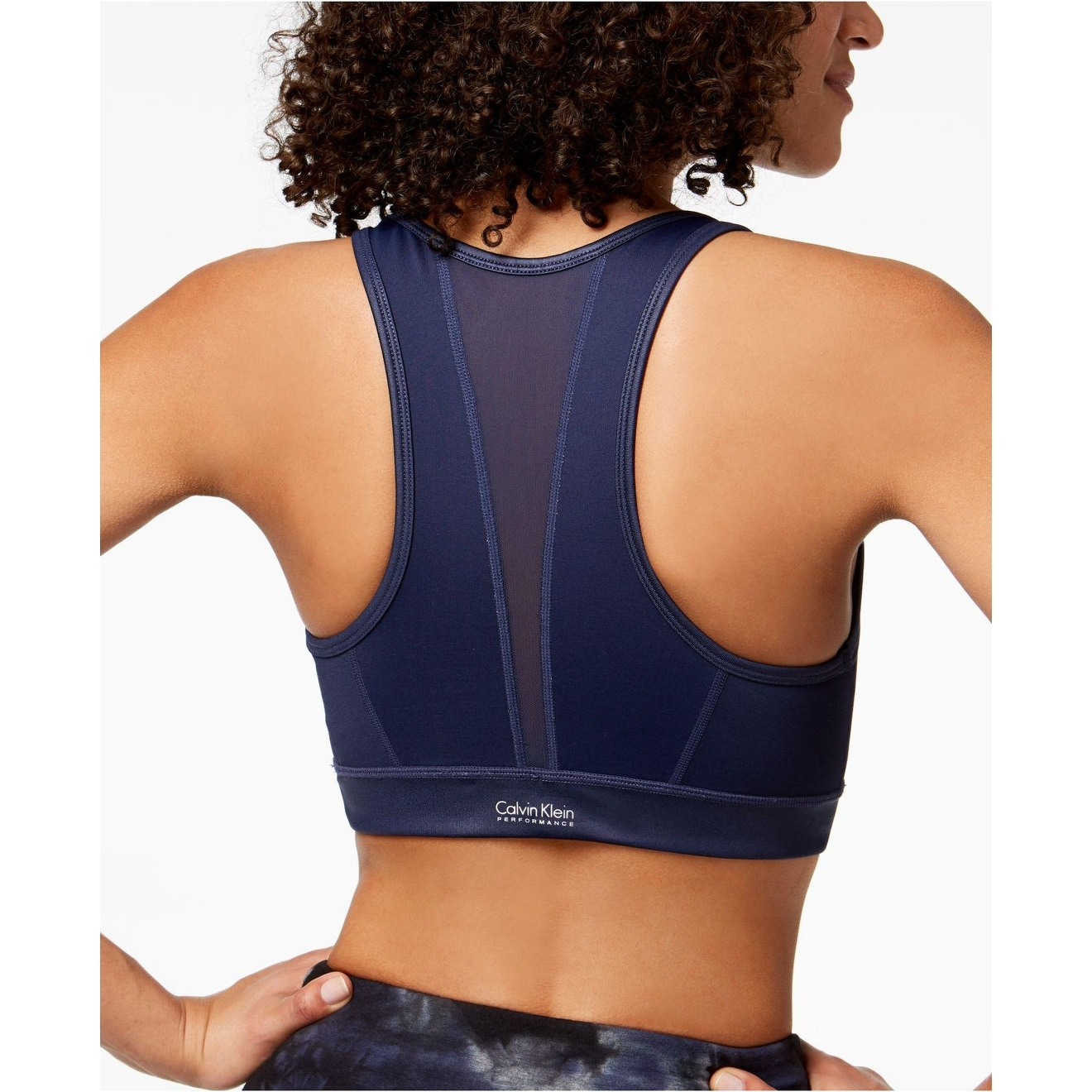 09a93b483b Shop Calvin Klein Performance Women s High-Neckline Racerback Support  Sports Bra Blue Size Small - S - Free Shipping On Orders Over  45 -  Overstock.com - ...