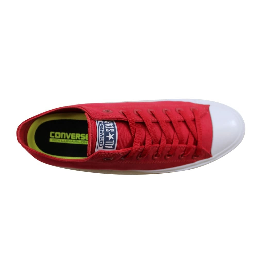 Shop Converse Men s Chuck Taylor II OX Salsa Red White 150151C - On Sale -  Free Shipping Today - Overstock - 23436850 cade2e89c1