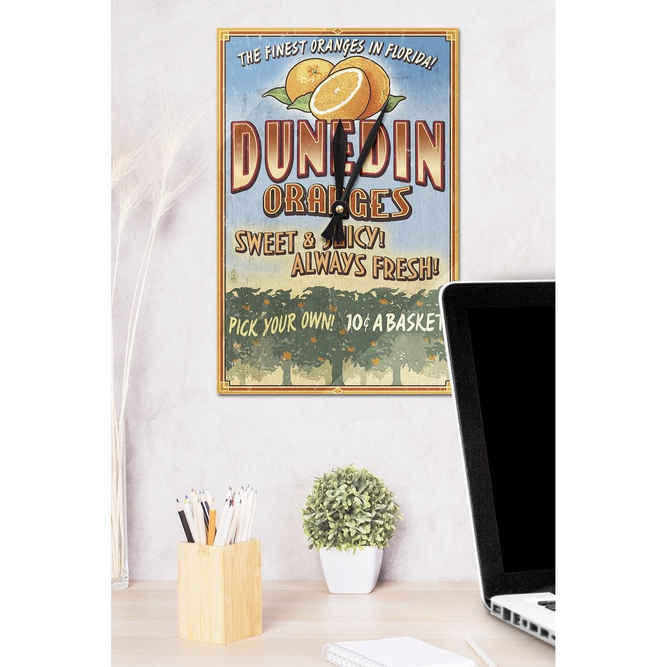 Dunedin FL Orange Grove Vintage Sign - LP Artwork (Acrylic Wall ...