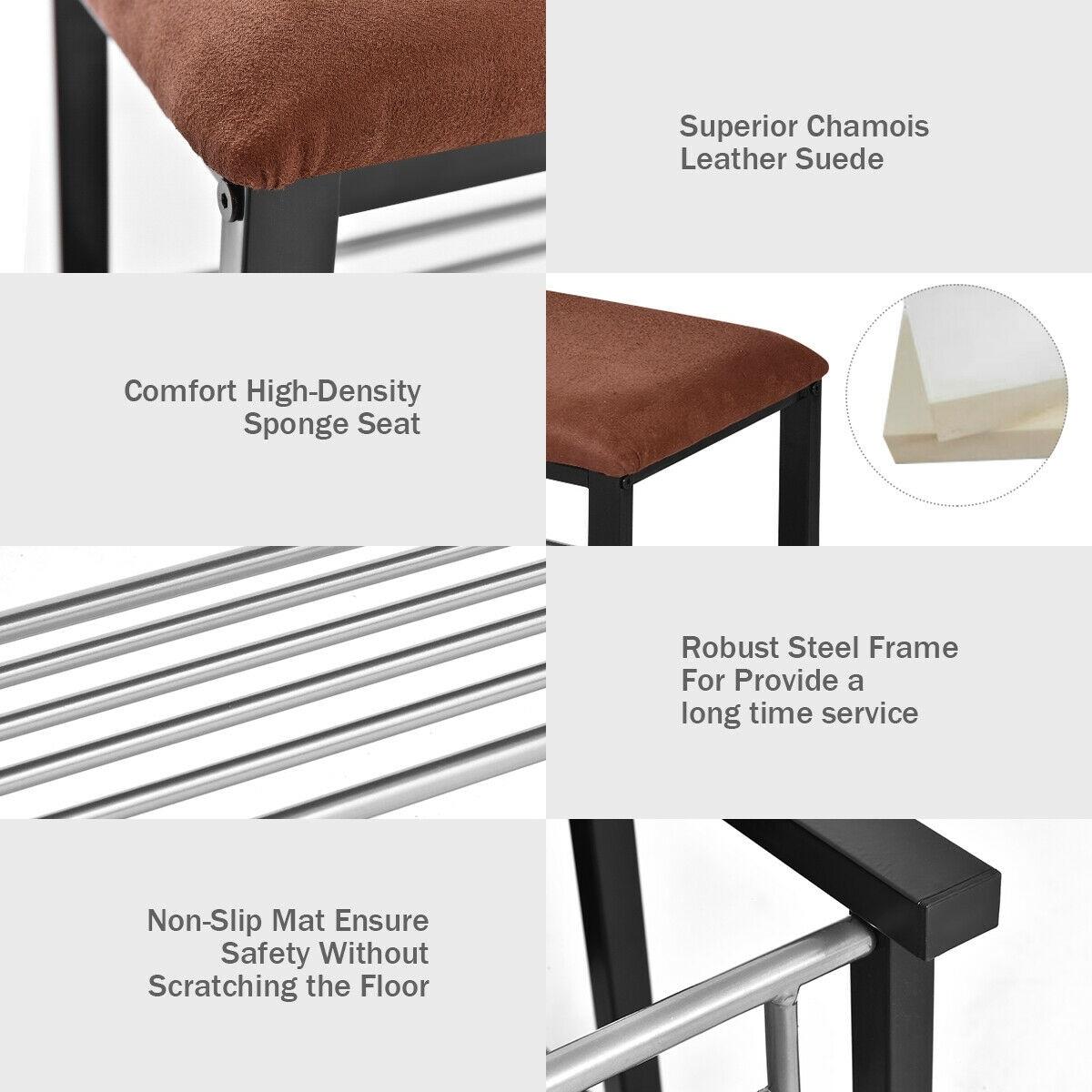 e8c6da00fc Shop Costway 2 Tier Shoe Storage Rack Bench Shelf Soft Seat Stool Organizer  Entryway Furni - as pic - Free Shipping Today - Overstock - 17647559