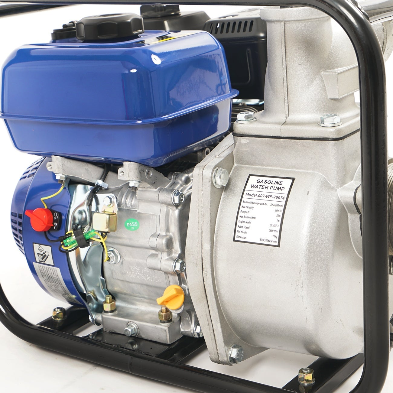 Arksen 3-Inch Intake 6 5HP 4-Stroke 264 GPM OHV Gas-Powered Portable Water  Pump Transfer Semi-Trash