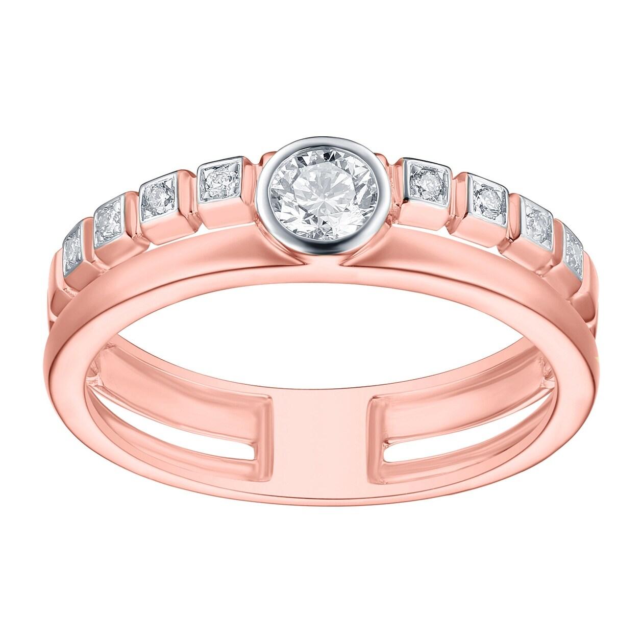 Prism Jewel 0.31CT G-H/SI1 Natural Diamond Light Weight Wedding Band ...