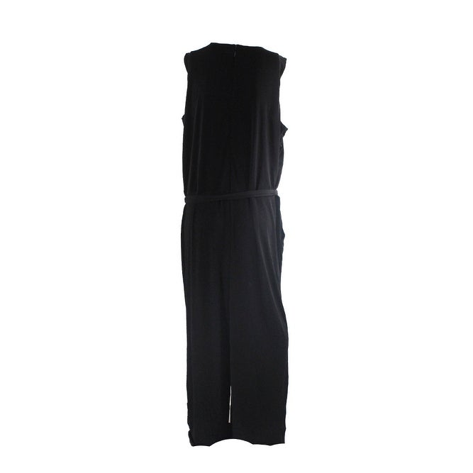39cd8e433d9 Shop Lauren Ralph Lauren Plus Size Black Jersey Wide-Leg Jumpsuit 2X - Free  Shipping Today - Overstock.com - 24335616