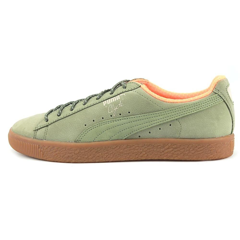 e6cbb8ec2c8 Shop Puma Clyde Winter Men Round Toe Suede Green Sneakers - Free ...