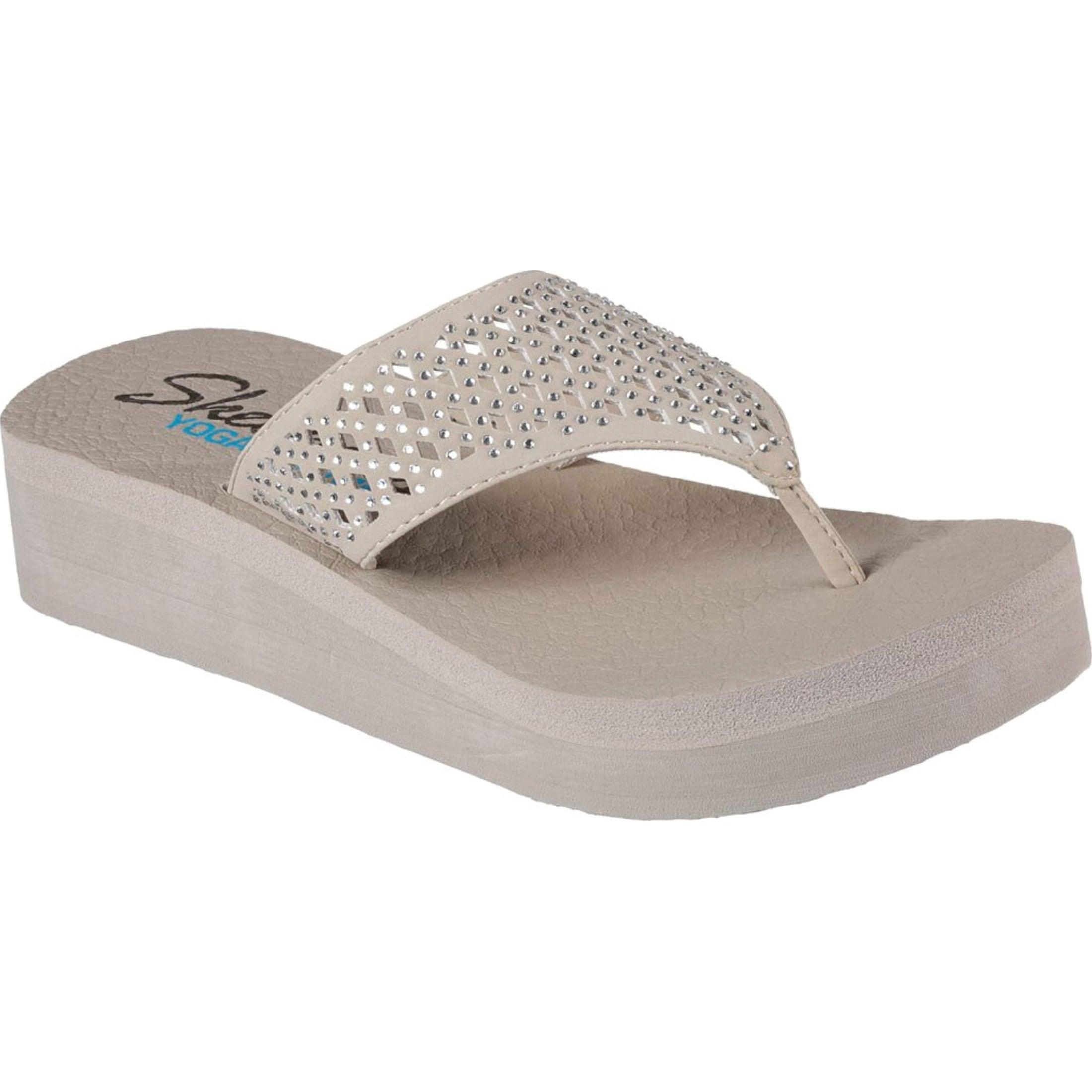 be8382c15 Shop Skechers Womens Vinyasa Flow Wedge Lightweight Memory Foam Flip ...  skechers memory foam