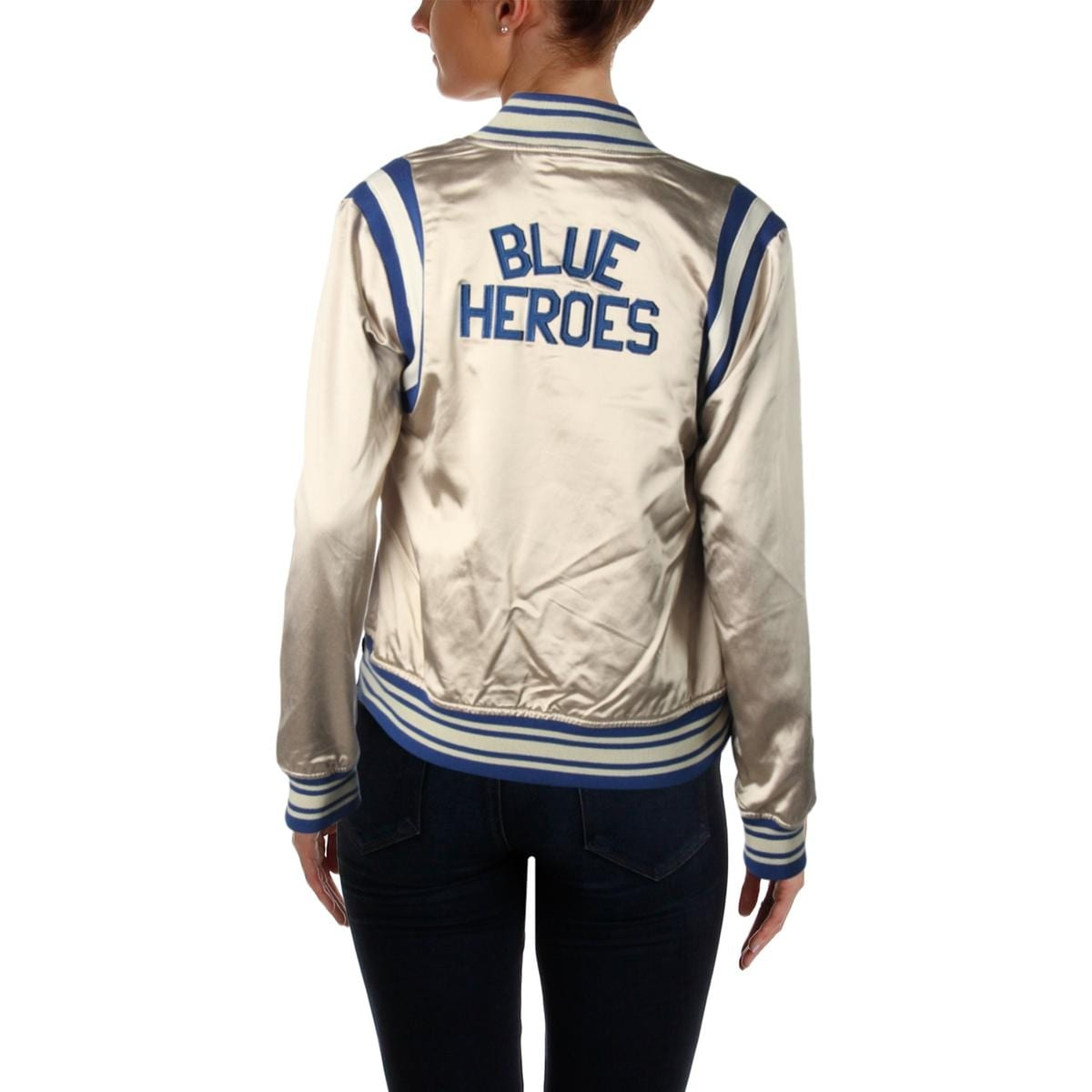 94caf92b7 Scotch & Soda Womens Blue Heroes Bomber Jacket Silky Sporty