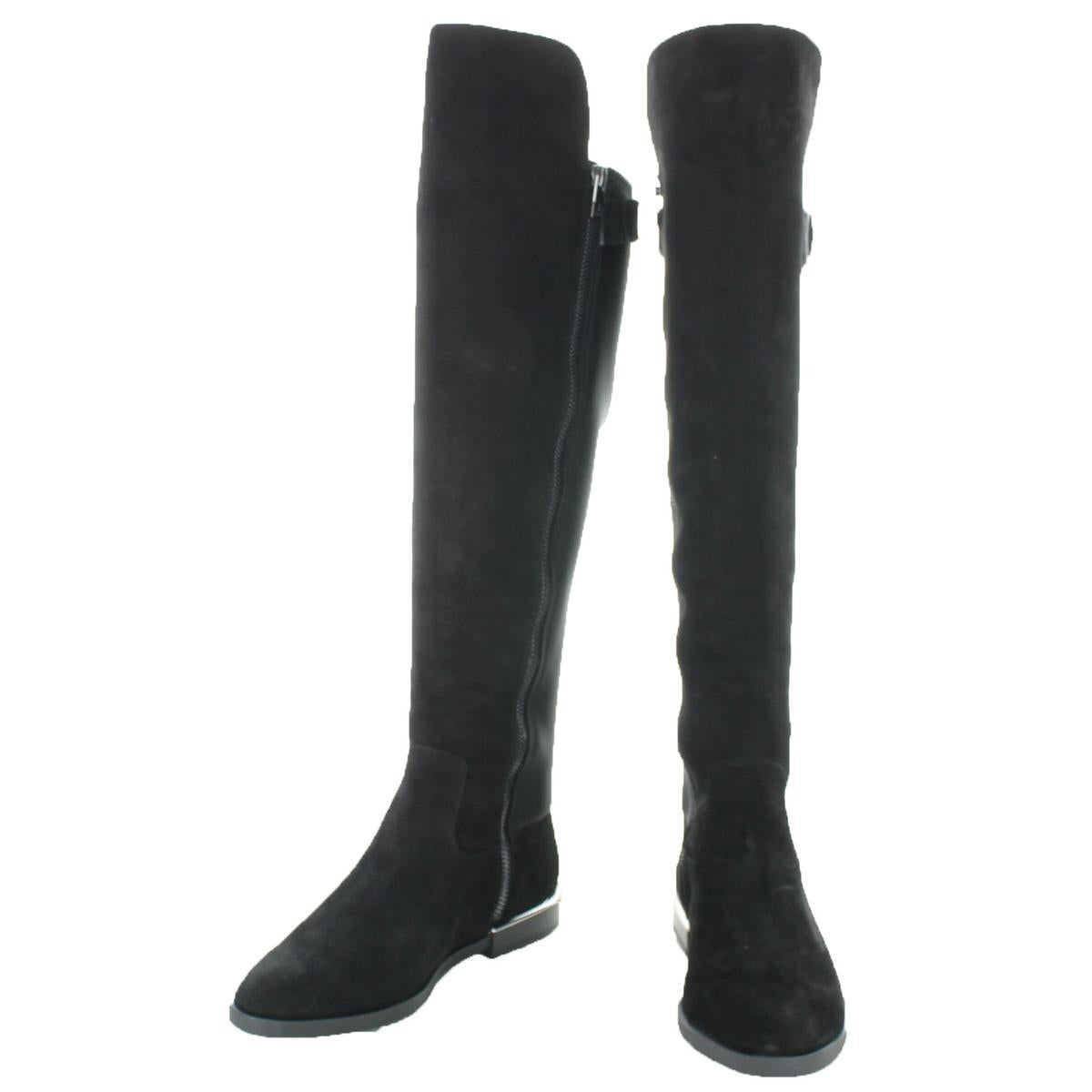 9cb12dbaf28 Shop Calvin Klein Womens Priscila Over-The-Knee Boots Suede Low Heel - 5  Medium (B