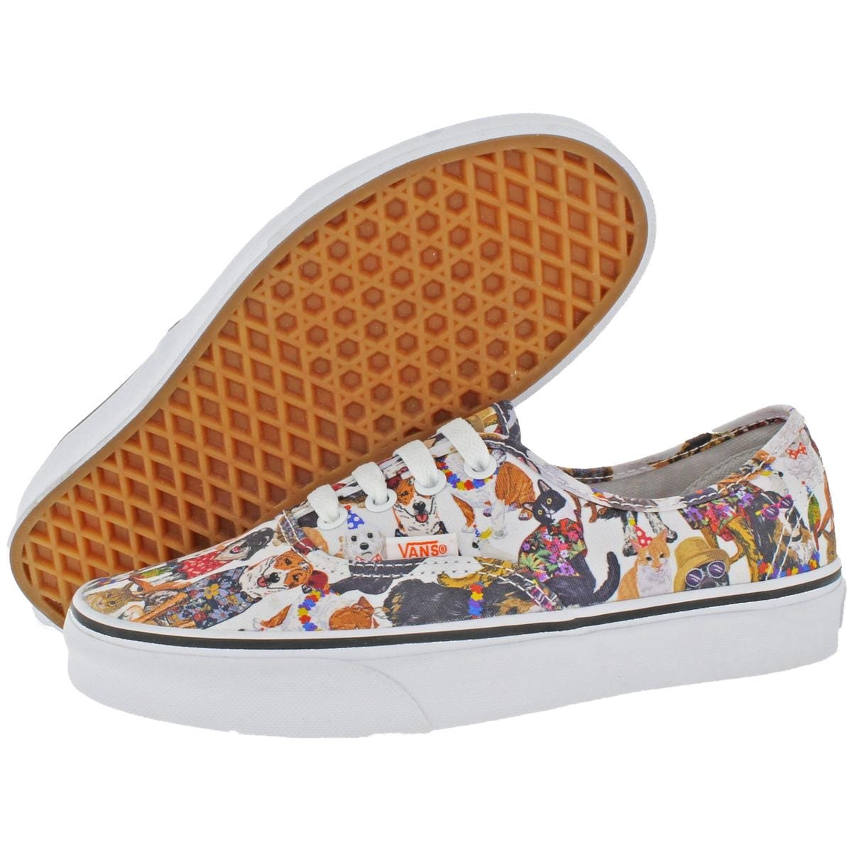 43689a2b8a1e10 Shop Vans Womens Authentic ASPCA Skate Shoes Low Top Trainer - Free  Shipping On Orders Over  45 - Overstock - 22732728