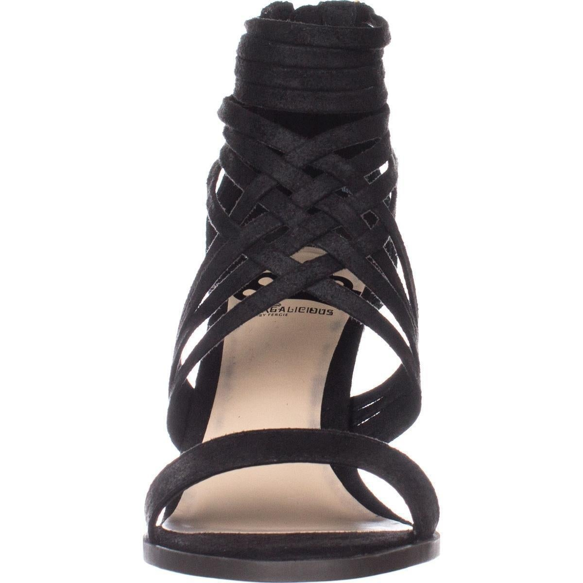 95c372b0b3 Shop Fergalicious Hunter Strappy Wedge Sandals, Black - Free Shipping On  Orders Over $45 - Overstock - 20814058