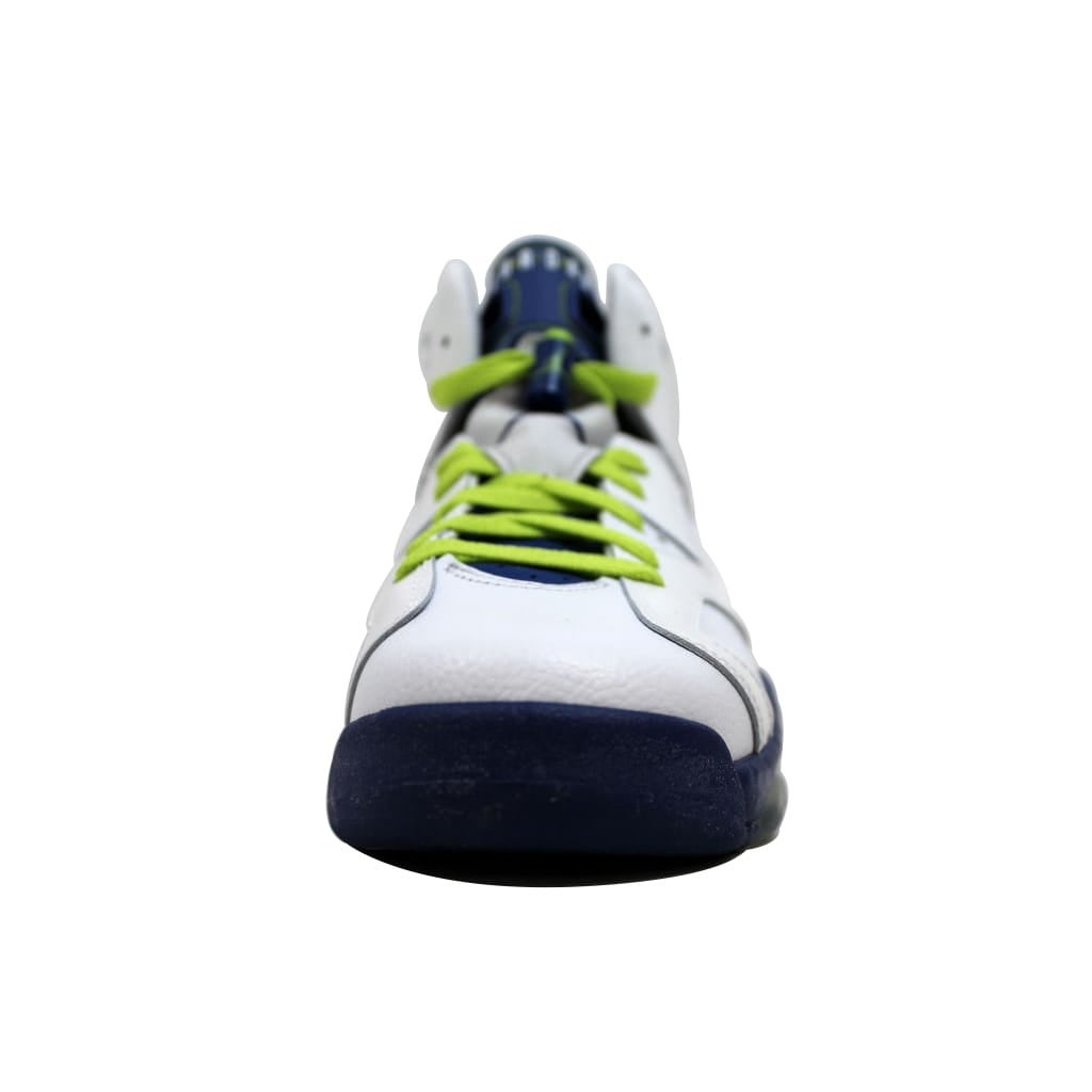 daecd7035b10 Shop Nike Grade-School Air Jordan VI 6 Retro White Fierce Green-Deep Royal  Blue-Hyper Pink Seahawks 543390-108 Size 7Y - Free Shipping Today -  Overstock - ...